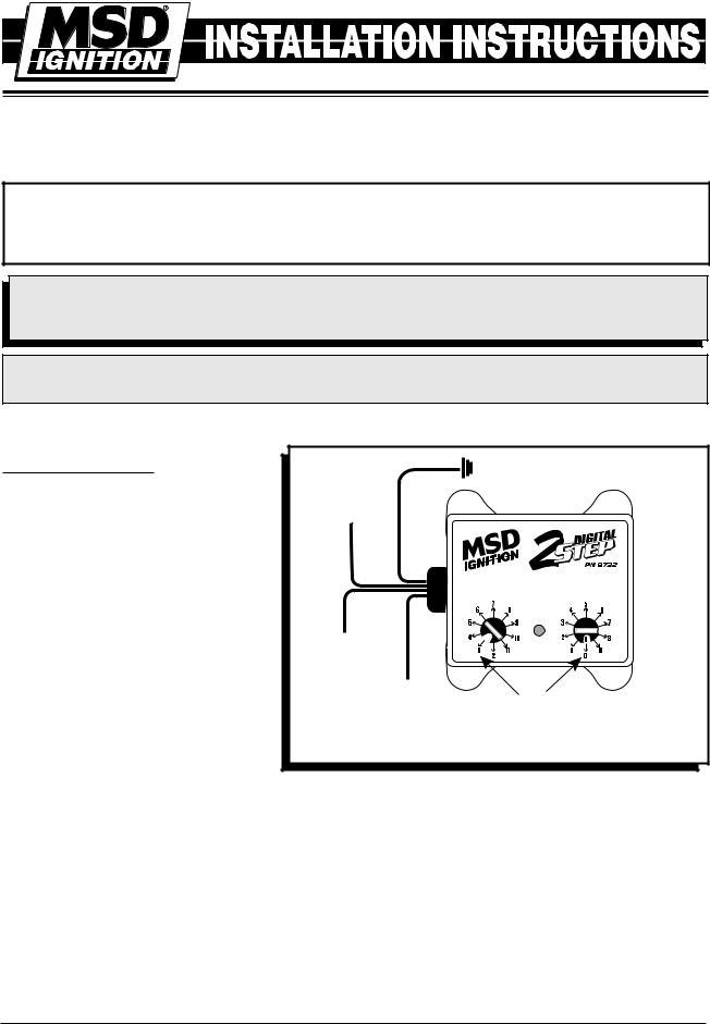 Msd 8732 2 Step Rev Control For Digital, Msd 2 Step 8739 Wiring Diagram
