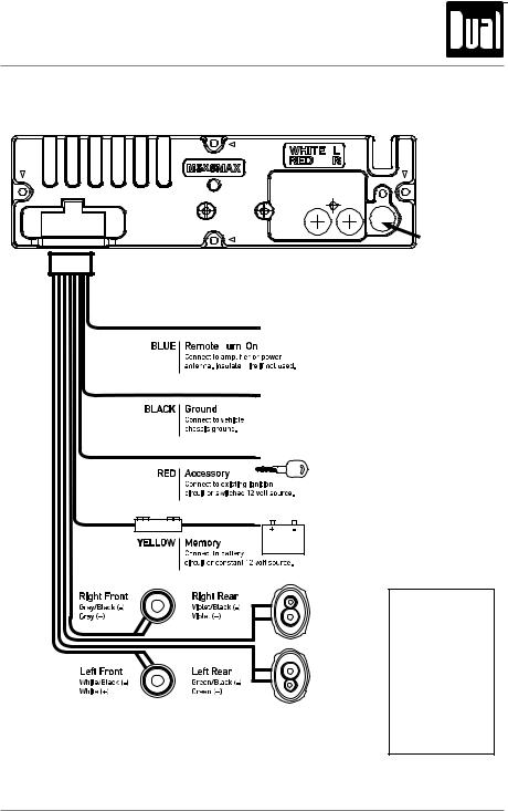 Dual Xd1225 Wiring Harness Diagram from manualmachine.com