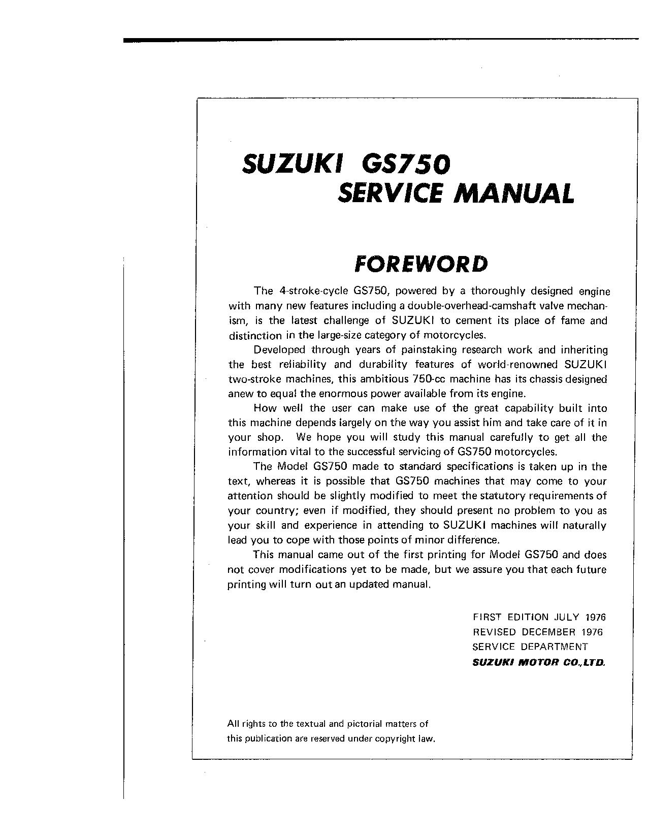 Diskursas Isnykti Teisėjas Suzuki Gs 750 Manual Hotelpurva Com