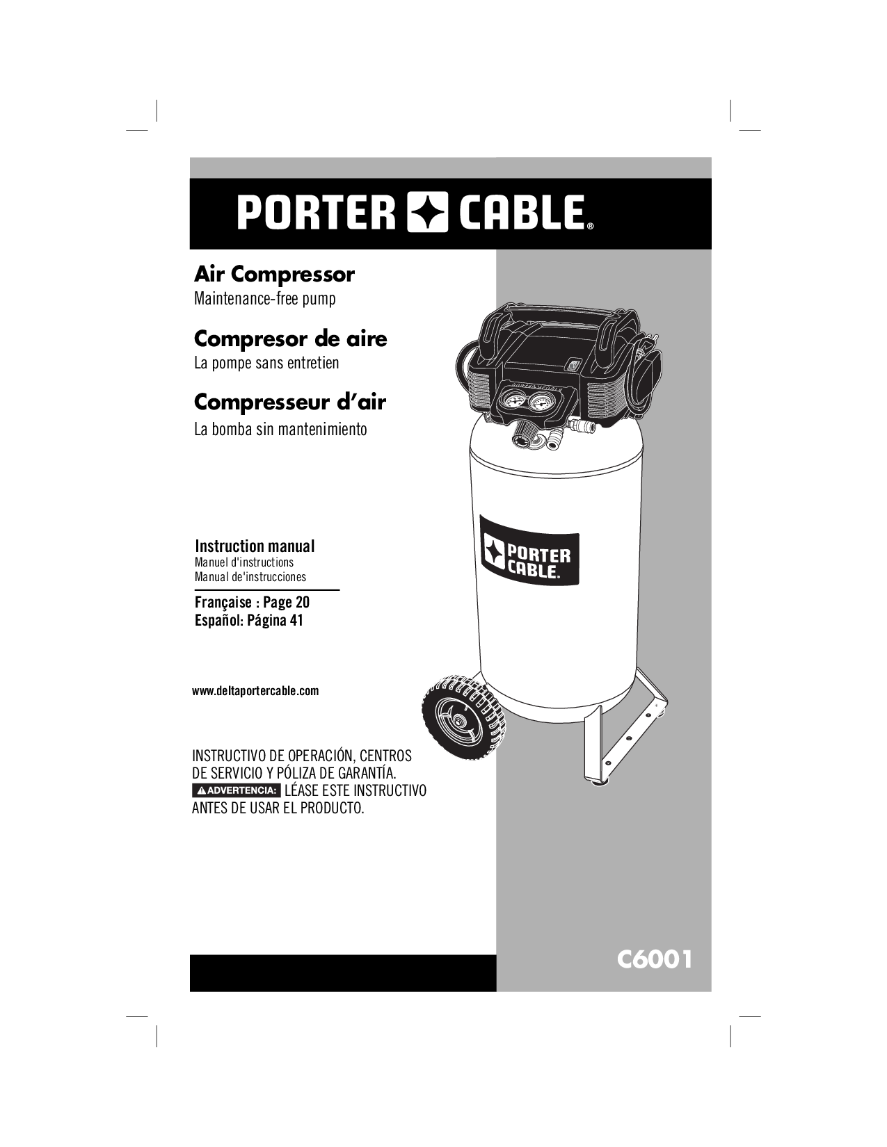 Porter Cable C6001 N078948 User Manual