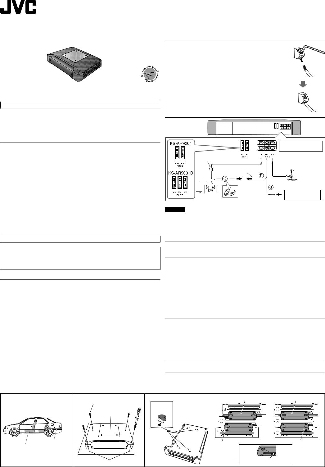 JVC KS-AR9001D, KS-AR9004 User ManualManualMachine.com