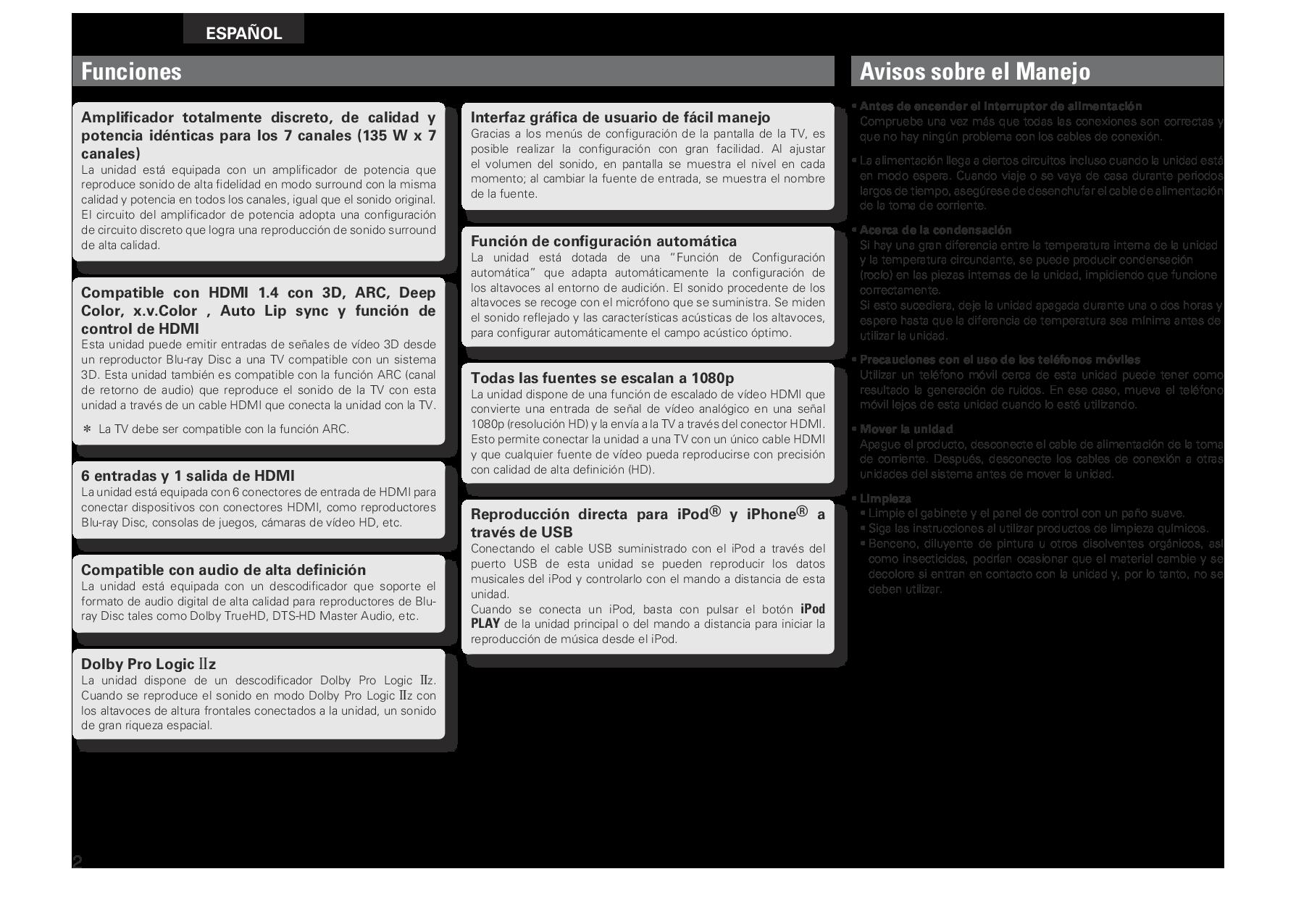 Denon AVR-2311CI User Manual