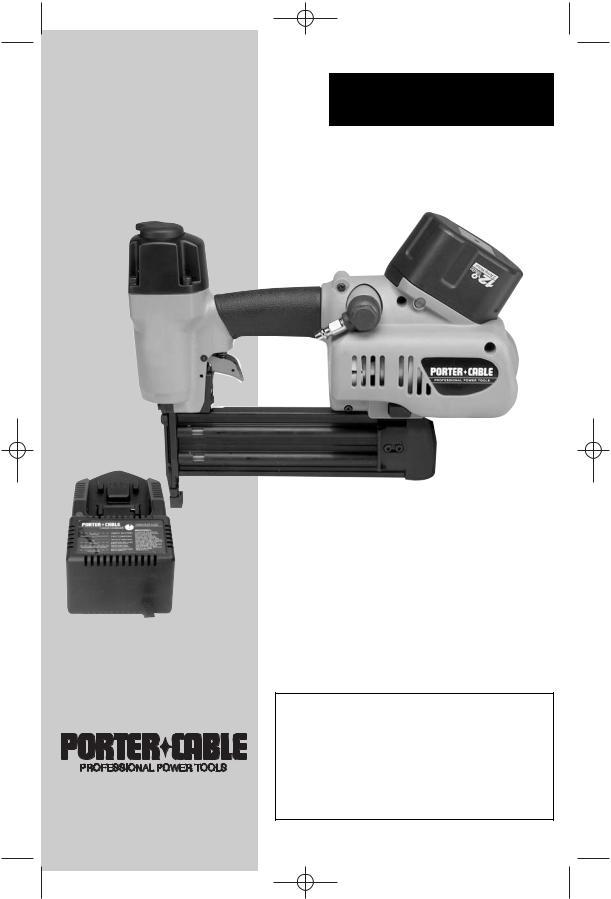 Porter Cable 8604 Bn200v12 User Manual