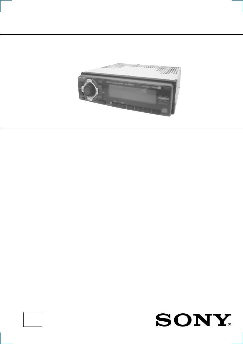 Sony Cdx C5050x Service Manual