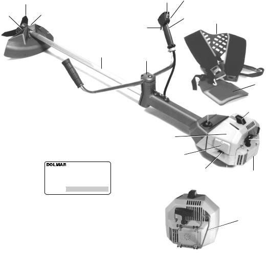 300 mm Dickichtmesser für Dolmar  MS 3310 MS 4510 USW