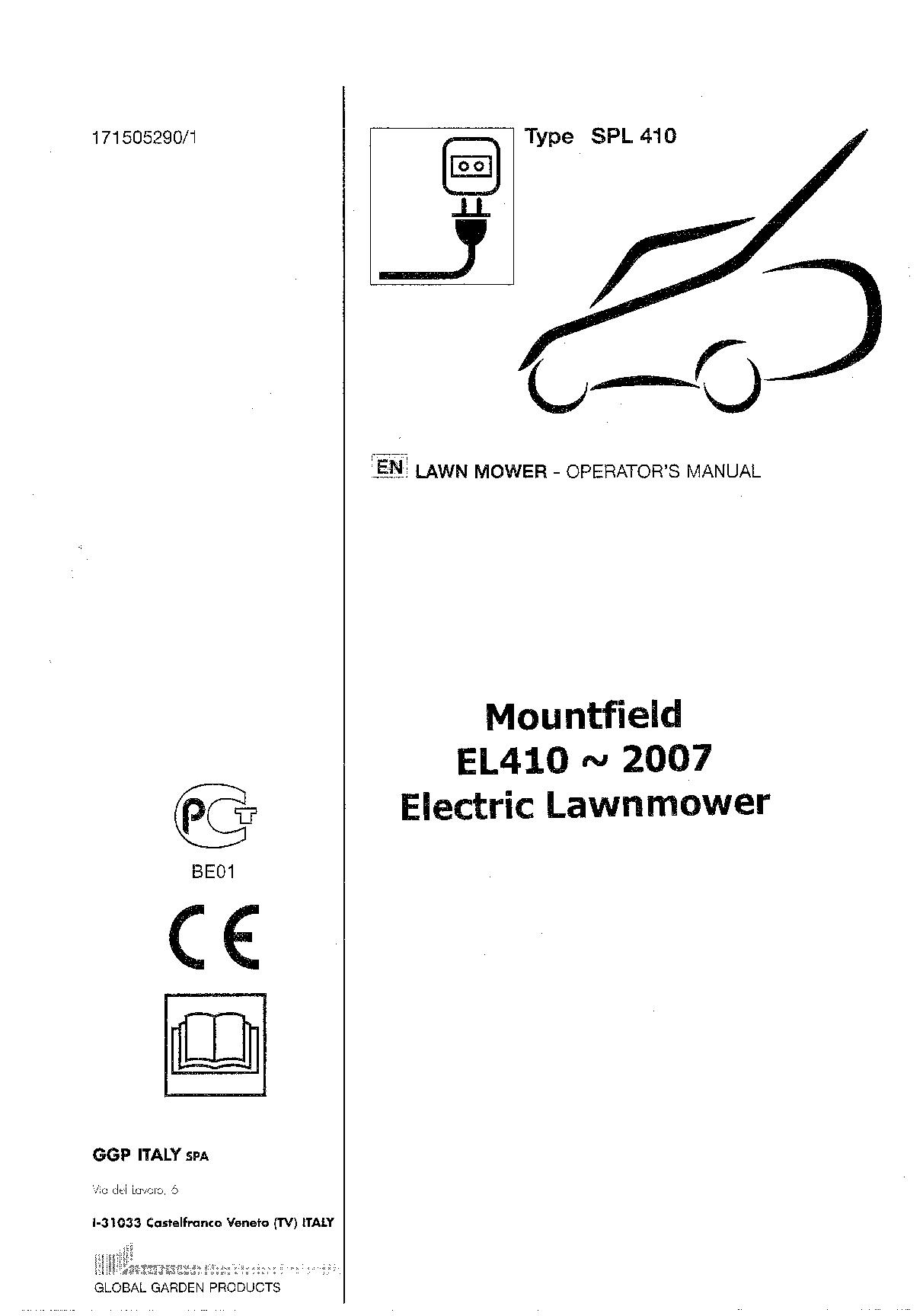 Mountfield Manuals