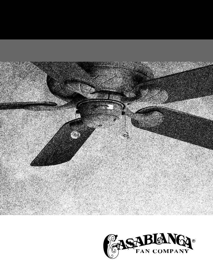 Casablanca Fan Compagny Lanai User Manual