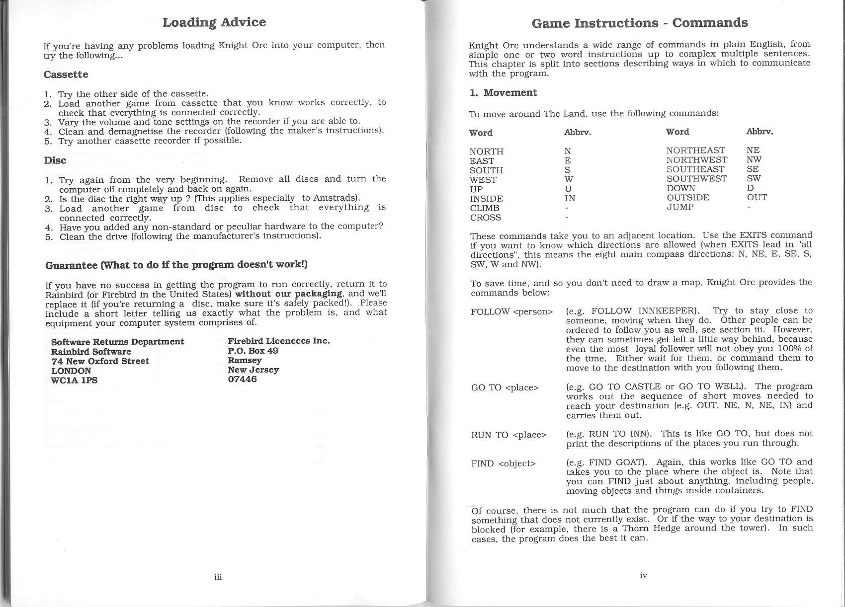 White Knight Manual Instructions