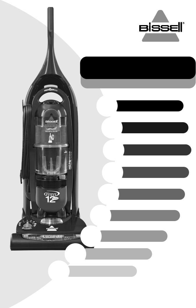 Lift Off Bagless 3750 Upper Tank /& Pre-Motor Filter for Bissell 3576 8 Filter