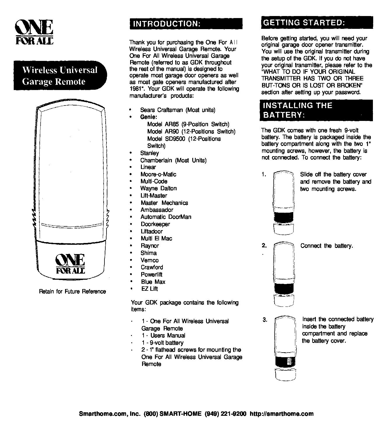 Genie Garage Door Opener Sd9500 Manual Dandk Organizer