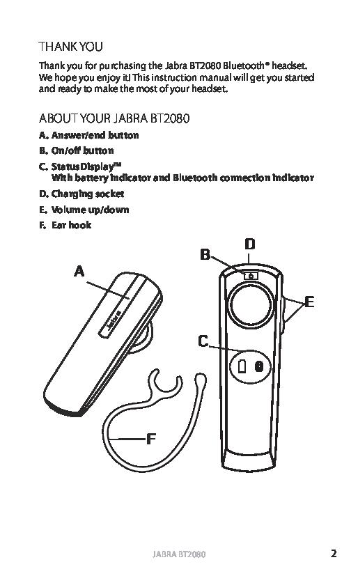 Jabra Bt2080 User Manual 2