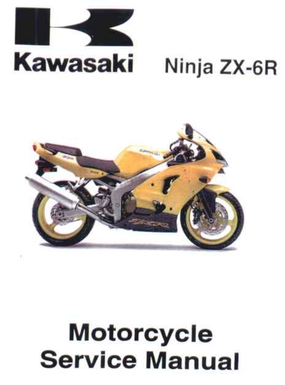 Kawasaki Zx6r 00 02 Service Manual
