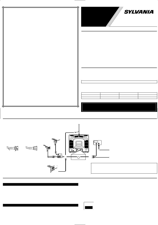 Sylvania Tvk131 Tvk191 User Manual