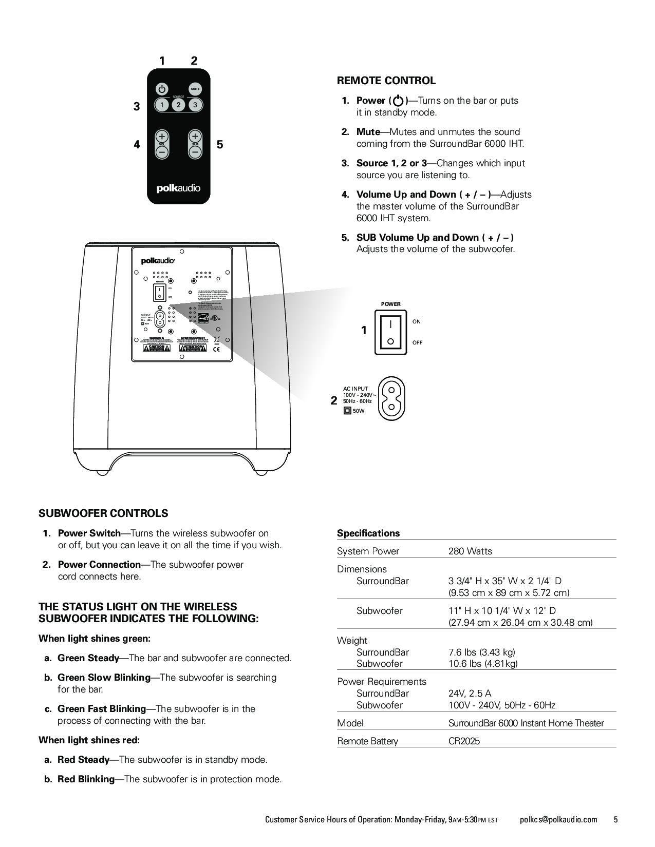 Polk Audio Surroundbar 6000 User Manual