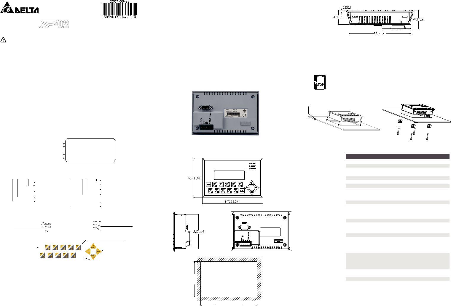 [DIAGRAM_38IU]  Delta Electronics TP02G-AS1 User Manual | Delta Tachometer Wiring |  | ManualMachine.com
