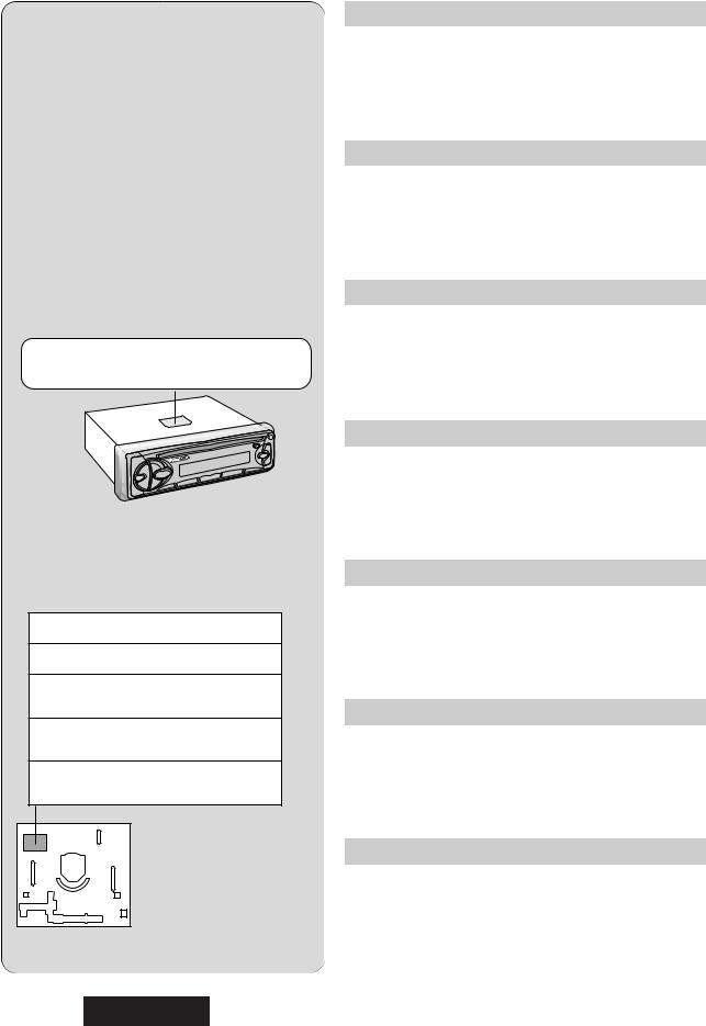 Panasonic Cq Rdp472n User Manual