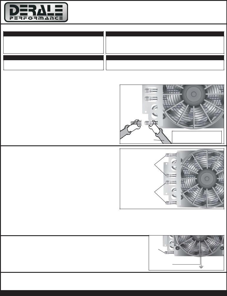 [SCHEMATICS_4LK]  Derale Performance 8 & 8 Pass Dual Circuit Electra-Cool Remote Cooler, -8AN  User Manual | Derale Oil Cooler Wiring Diagram |  | ManualMachine.com