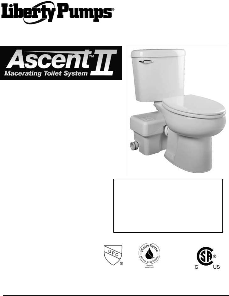 Liberty Pumps Ascent Ii User Manual
