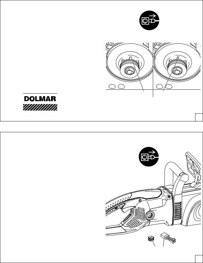 cubierta rueda dentada Pieza de repuesto original dolmar sierra 2135 a
