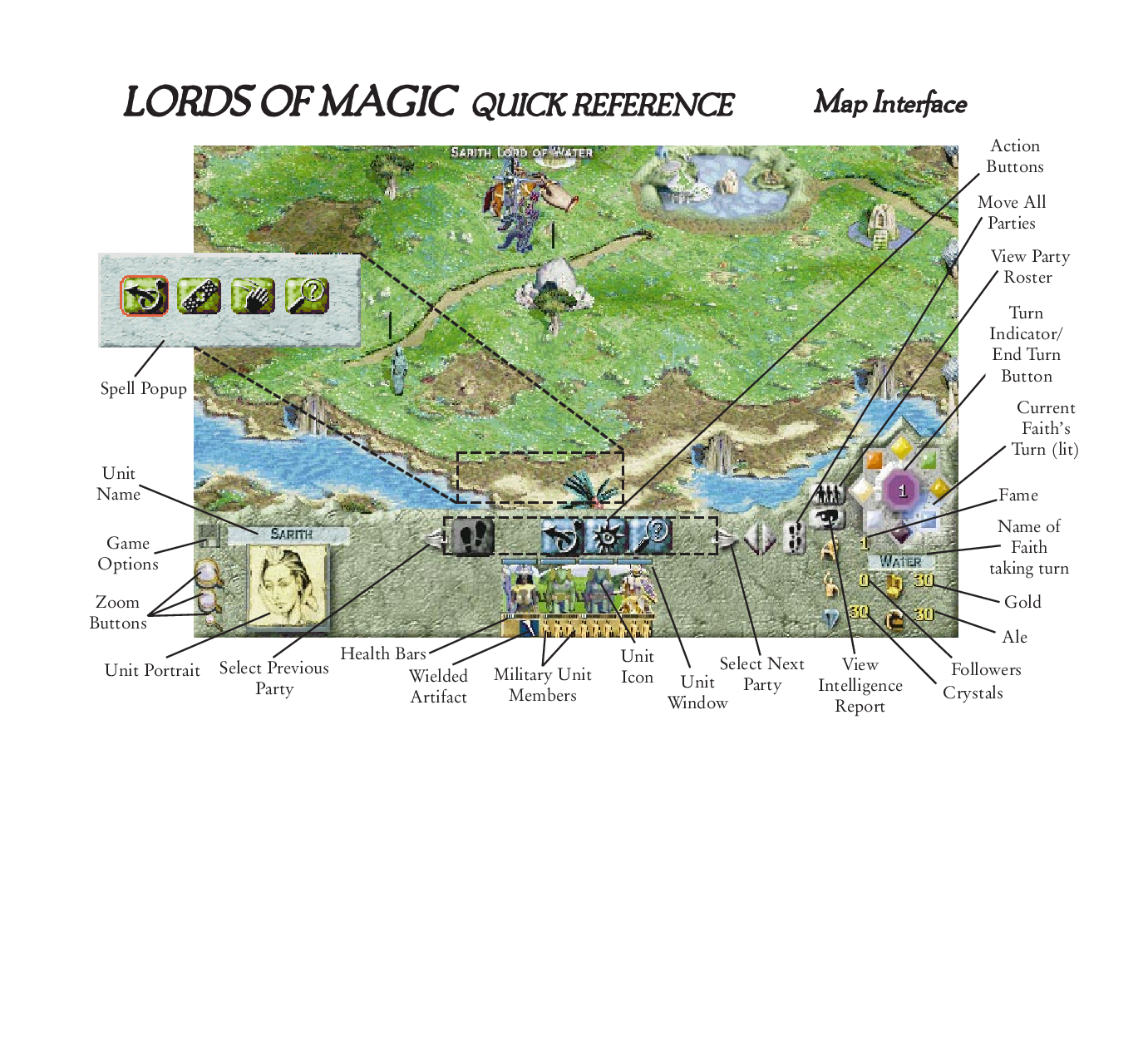 Games Pc Lords Of Magic Quick Reference Map Interface User Manual