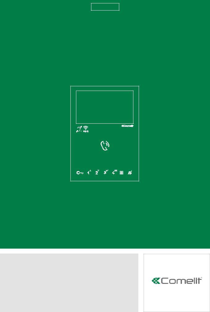 comelit 6741w mini handsfree technical manual